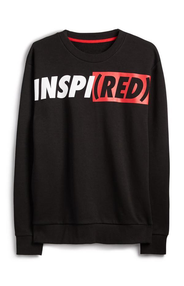 "Schwarzer ""Inspired Red"" Pullover"