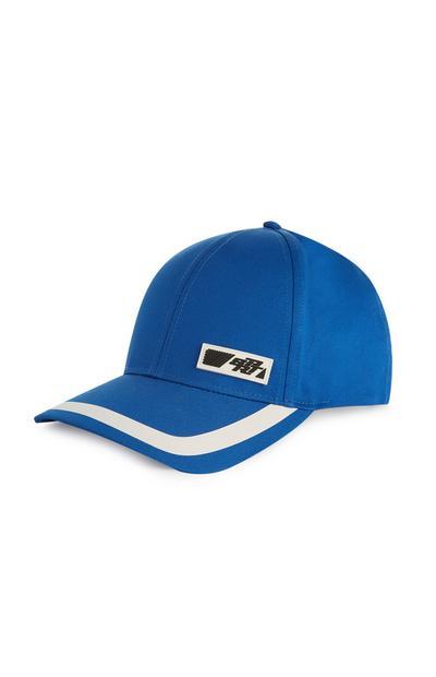 Kobaltblaue Cap mit Streifen
