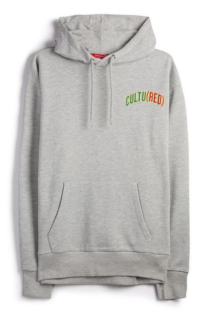 Grijze hoodie met Cultured RED-logo