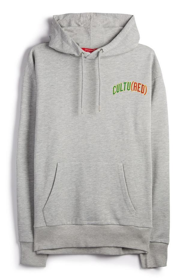 Sweat à capuche gris à logo Cultured RED