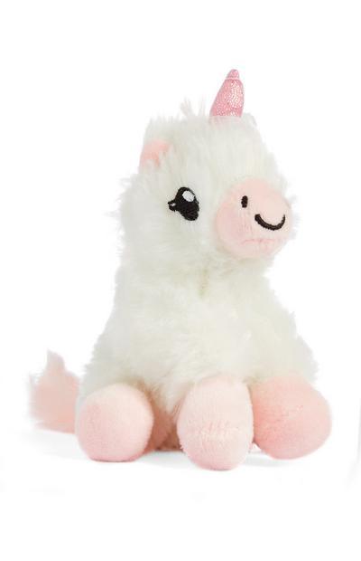 """Weiß-pinkfarbenes """"Lily the Unicorn"""" Spielzeug"""