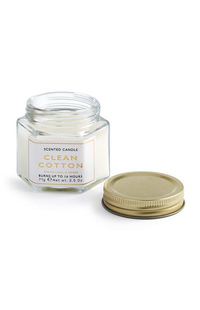 Clean Cotton White Lilac And Amber Scented Candle