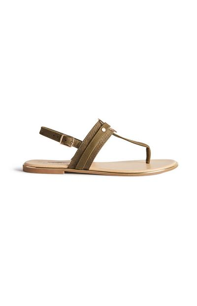 Olive Strappy Sandals