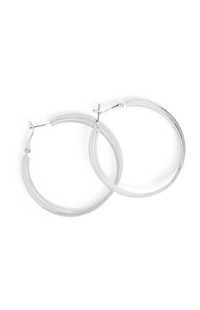 Silver Layered Hoop Earrings