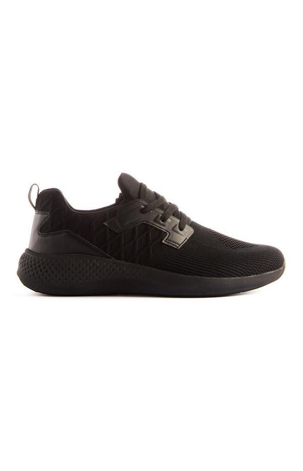 Schwarze Sneaker in Strick-Optik