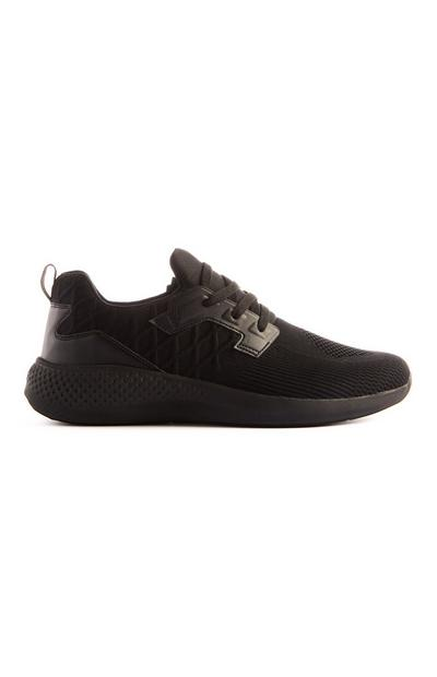 Black Knitted Trainer