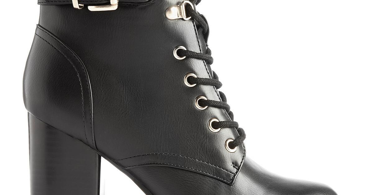 Chunky Black Heels Boots Block Heels Boots Girls Black Zip Boots Primark