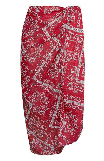 Rode sarong met paisleyprint