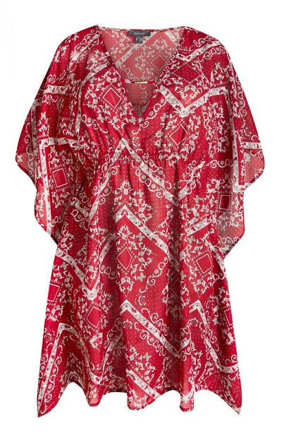 Rdeč kaftan z vzorcem paisley