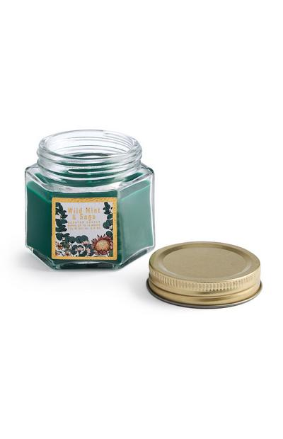 Wild Mint And Sage Scented Candle