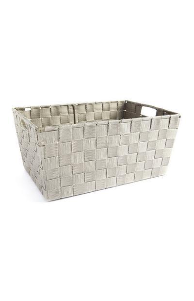 Caja gris tejida