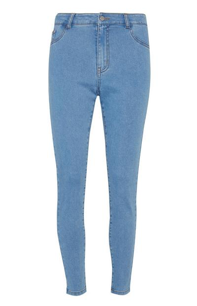Blue Push Up Skinny Trousers