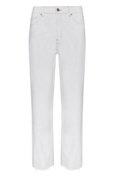 Jeans écru taglio corto vintage