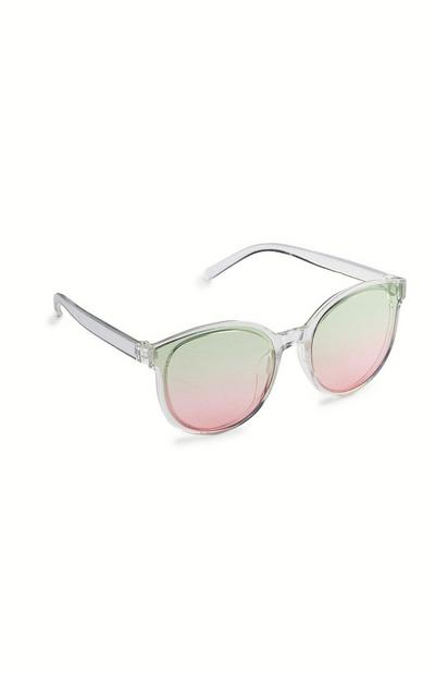 Clear Ombre Tint Sunglasses