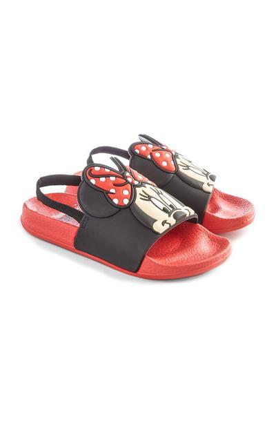 Chanclas rojas de Minnie Mouse para niña pequeña