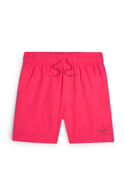 Older Boy Fuschia Pink Swim Shorts