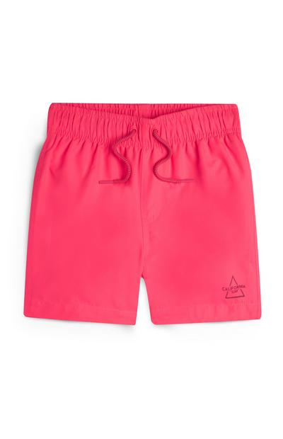 Younger Boy Pink Swim Shorts