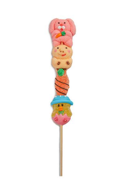 Oster-Gummibärchen und -Marshmallows am Stiel
