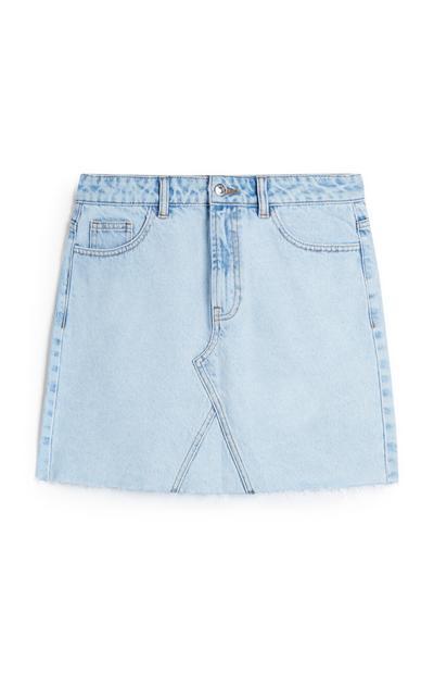 Basic Blue Denim Skirt