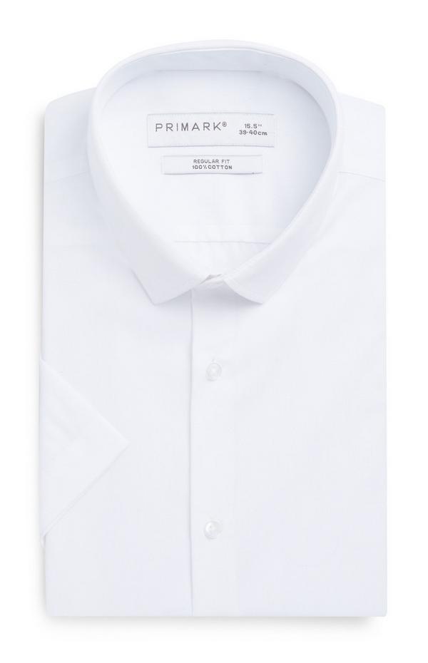 White Short Sleeve Regular Fit Shirt