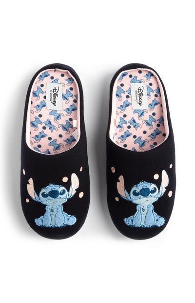 Chaussons bleu marine et rose Stitch