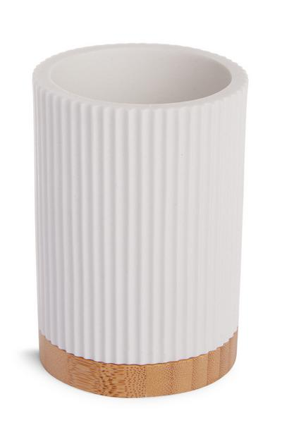 White Ribbed Tumbler
