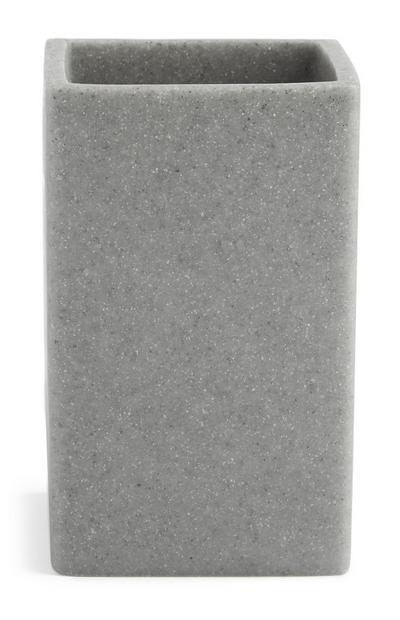 Grauer Behälter in Stein-Optik