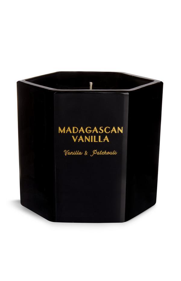 Glass Hexagonal Vanilla Candle