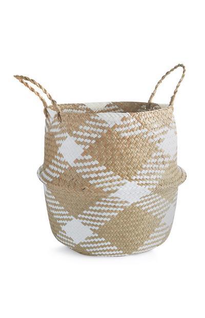 White Wicker Storage Basket