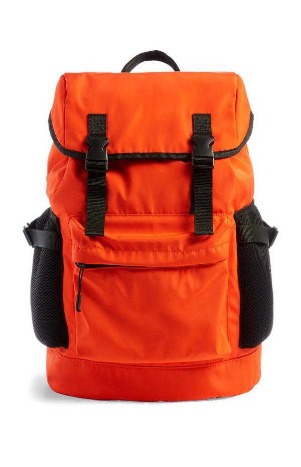 Leuchtender, orangefarbener Rucksack