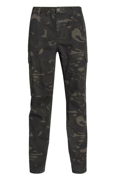 Camo Print Cargo Pants