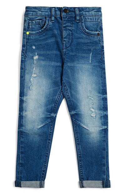 Younger Boy Faded Cuffed Jeans