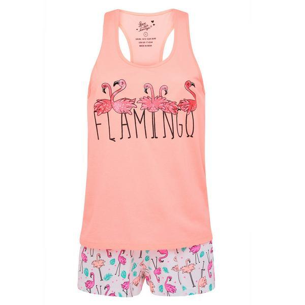Rosafarbenes, kurzes Pyjamaset