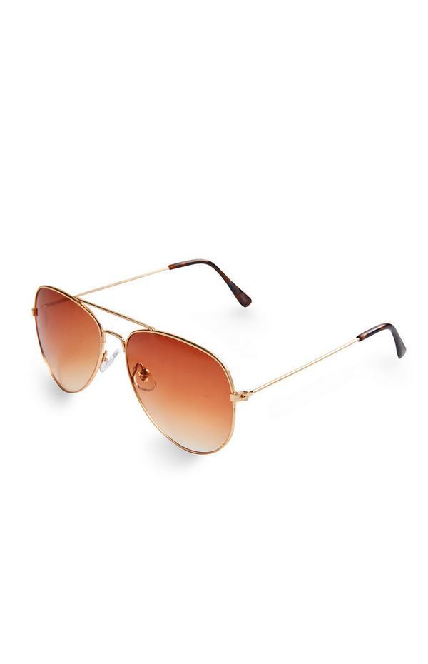 Orange Tone Aviator Sunglasses