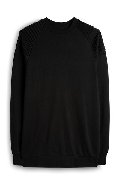 Black Biker Shoulder Sweatshirt