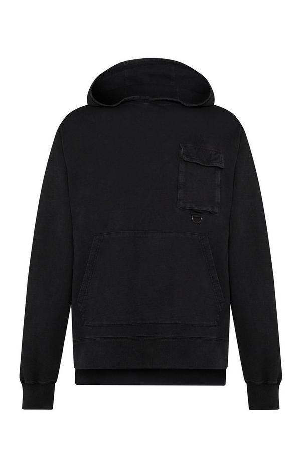 Zwarte Utility-hoodie