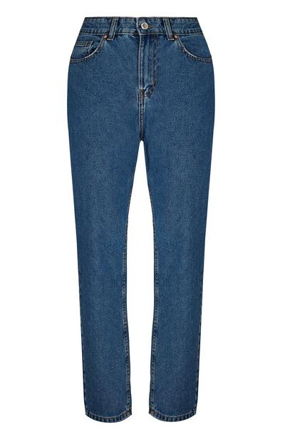 Blaue Mom-Jeans