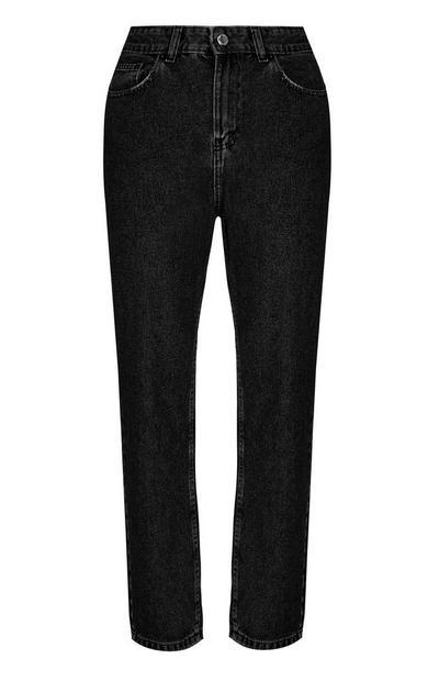 Zwarte wijde jeans