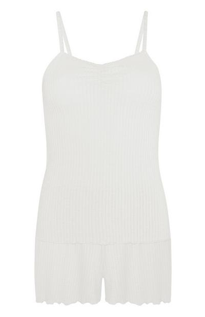 Ivory Pointelle Cami And Shorts Set