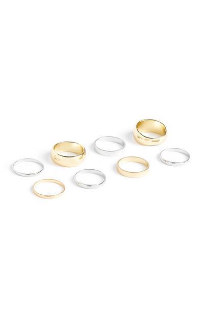 Beli in rumeni prstani