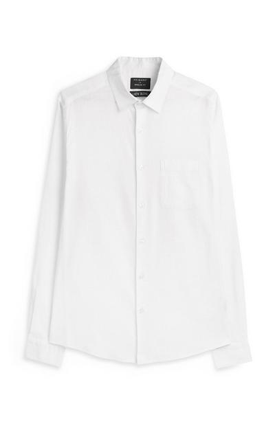 Weißes, langärmeliges Hemd