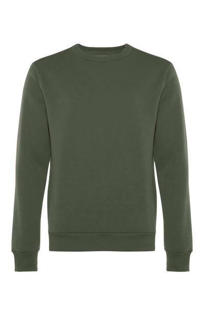 Green Crew Neck Sweater