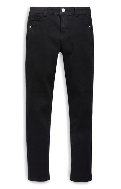 Older Girls Black Stretch Skinny Jeans
