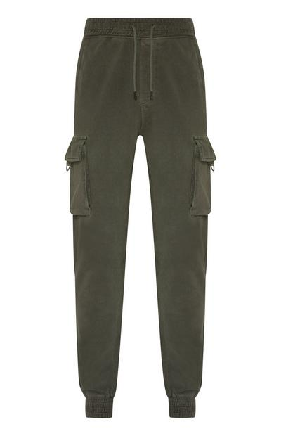 Grey Utility Pocket Cargo Joggers
