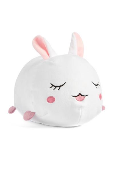 Grand lapin blanc en peluche