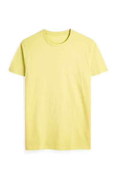 T-shirt gialla con scollo rotondo a maniche corte