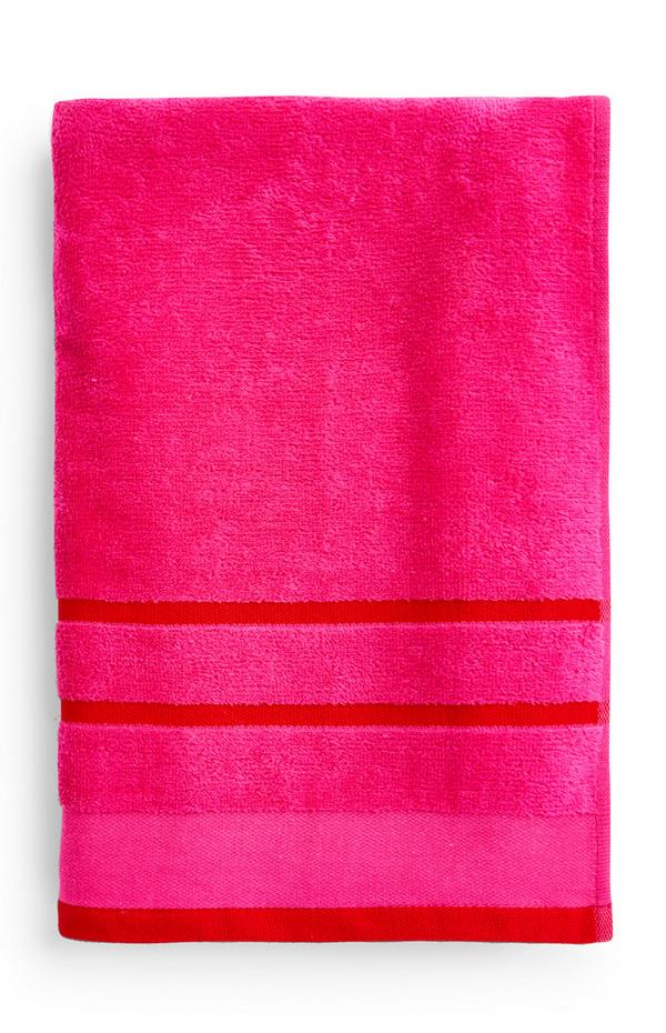 Pinkfarbenes Strandtuch