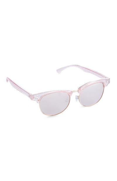 Occhiali da sole rosa glitterati da bimba