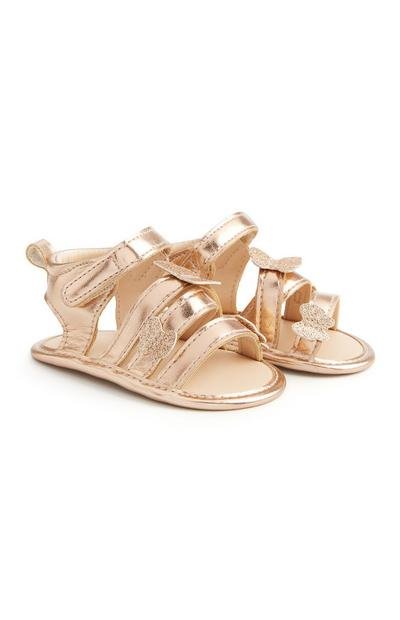 Gold Butterfly Sandals