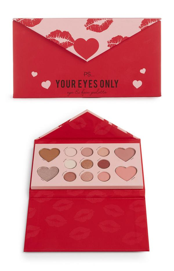PS Red Your Eyes Only Eye And Face Palette